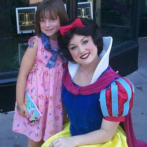 Snow White and her adoring fan