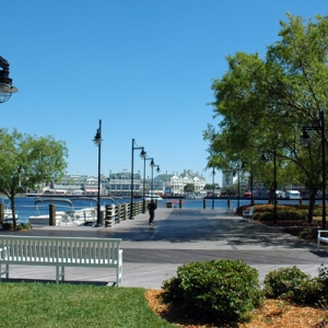 Yacht Club View of Boardwalk and Walkway