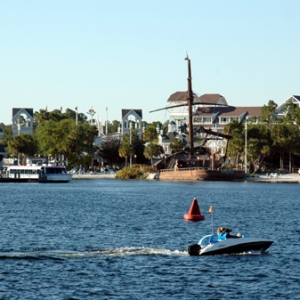 Beach Club and Crescent Lake
