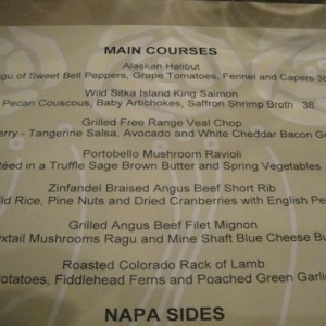 Napa Rose Menu 3