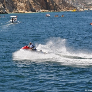Jet skiing in Cabo San Lucas
