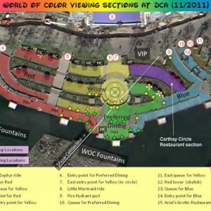 World of Color Viewing Areas (Hydroguy)