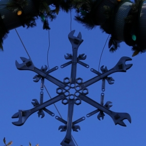 Cars Land Wrench snowflakes