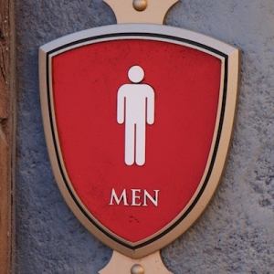 Tangled rest area - restroom sign