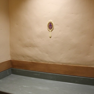 Tangled rest area - changing table in women's restroom