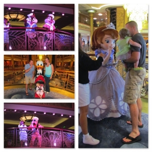 Characters on the Disney Fantasy