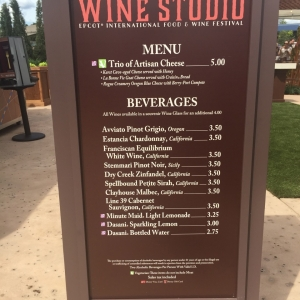 Wine Studio Menu