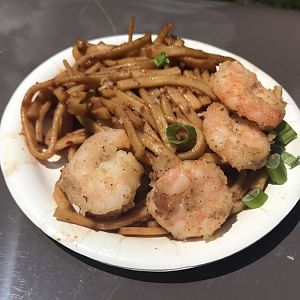 China-Black Pepper Shrimp With Garlic Noodles