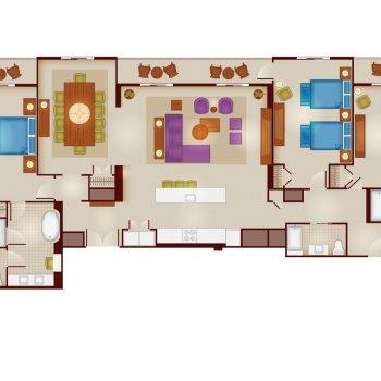 Floorplans For 3 Bedroom Grand Villa At Disney S Riviera Resort The Dis Disney Discussion Forums Disboards Com