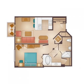 Floorplans For 1 Bedroom Villa At Disney S Beach Club Resort The Dis Disney Discussion Forums Disboards Com