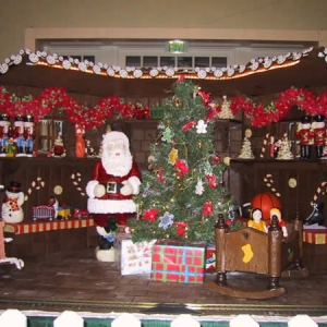 Christmas display at the Boardwalk