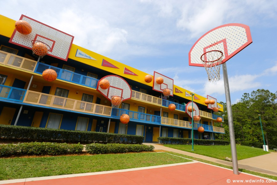 Disney's All Star Sports Resort basketball building