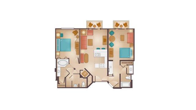 Floorplans For 2 Bedroom Lockoff Villa At Disney S Beach Club Resort The Dis Disney Discussion Forums Disboards Com