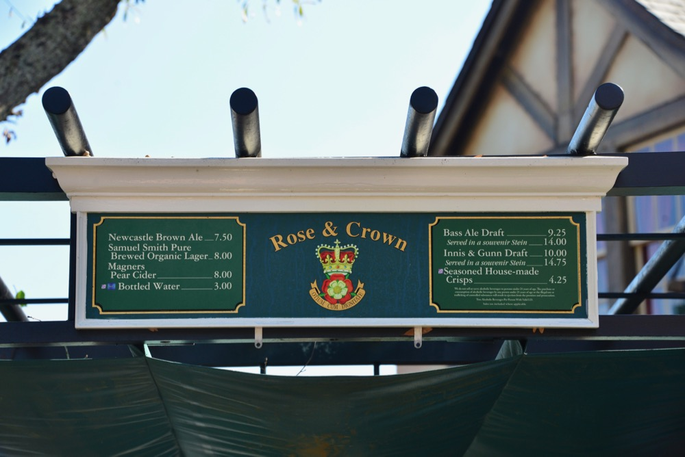 Rose-Crown-Beer-Cart-Menu